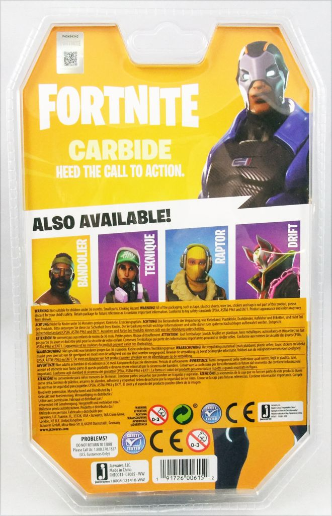 "Fortnite - Jazwares - Carbide - 4\"" scale action-figure"