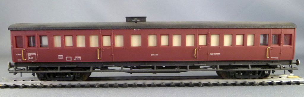 France Trains 142B Ho Sncf Rare Sleeping Car Red Ex Ty Nord Type with box