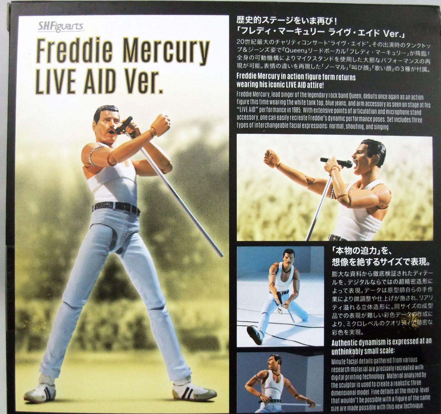 "Freddie Mercury - \""Live Aid\"" - Figurine S.H.Figuarts Bandai"