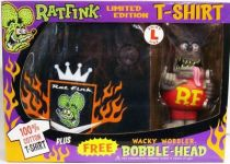 Funko - Rat Fink - Wacky Wobbler & T-Shirt Limited Edition set