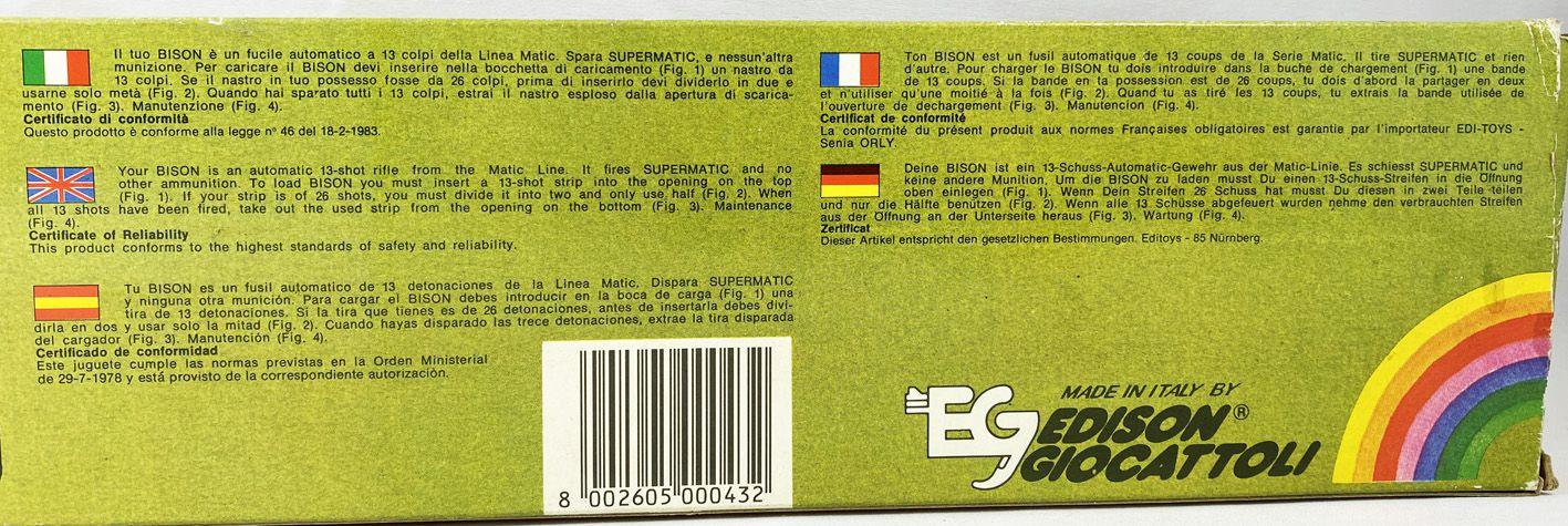 "Fusil Automatique 13 Coups \""Bison\"" - Edison Giocattoli"