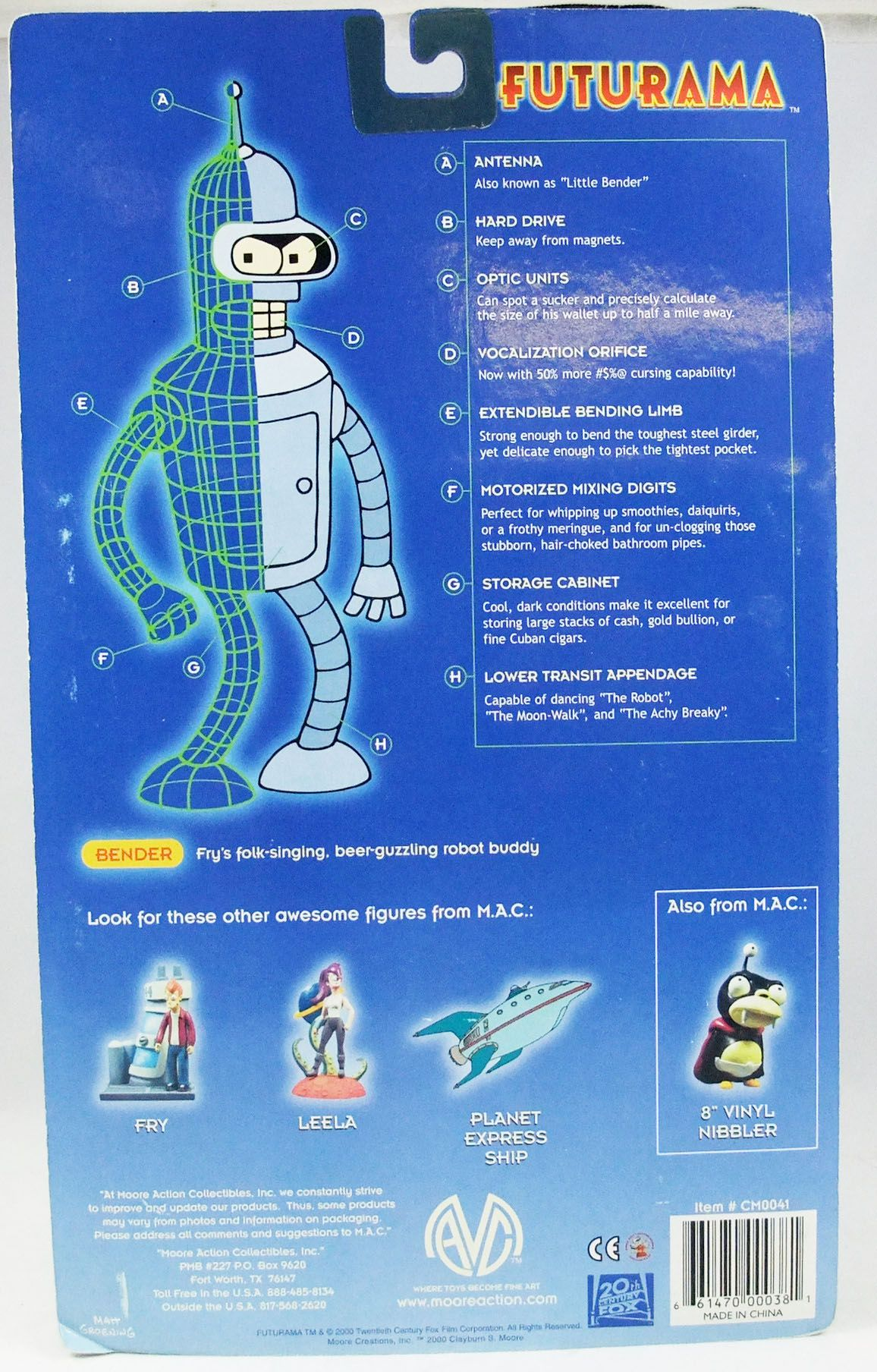 Futurama - Moore Action Collectibles - Chef Bender - Figurine articulée 15cm (Previews Exclusive)