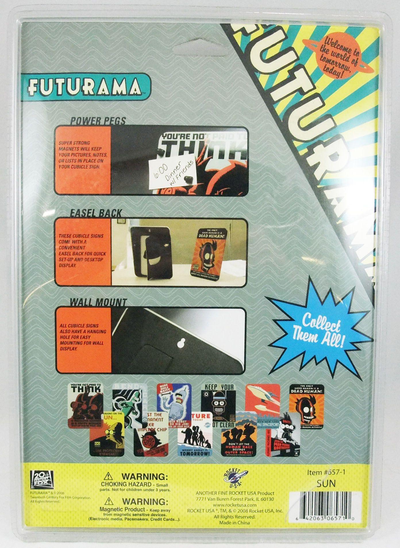 "Futurama - Rocket USA - Collectible Tin Sign \""Sun\"""