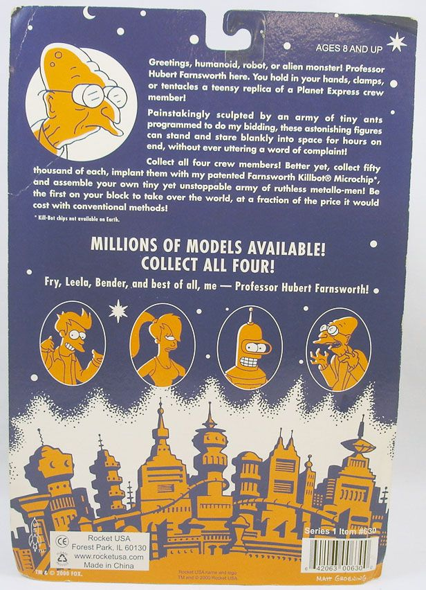 futurama___rocket_usa___figurines_metal__fry__leela__bender__pr._farnsworth__1_