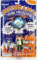 Futurama - Rocket USA - Figurines métal : Nibbler & Hermes Conrad