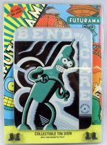 "Futurama - Rocket USA - Pancarte murale métallique \""Bend with care\"""