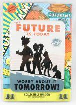 "Futurama - Rocket USA - Pancarte murale métallique \""Future\"""