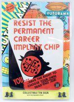 "Futurama - Rocket USA - Pancarte murale métallique \""Resist\"""