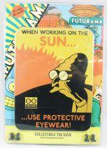 "Futurama - Rocket USA - Pancarte murale métallique \""Sun\"""