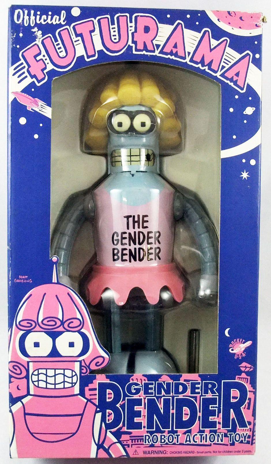 Futurama - Rocket USA - Tin Robot Wind-up Gender Bender