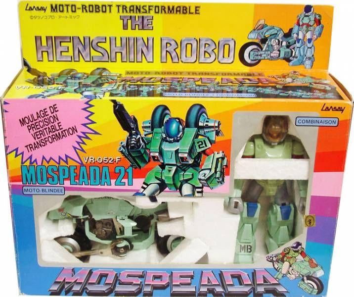 Gakken Lansay - Mospeada Scott Bernard Armor Bike Ridding Suit Cyclone Henshin Robo