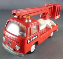 Gama Vw T2 Pompier Nacelle Secours Etat Neuf sans boite 1/43