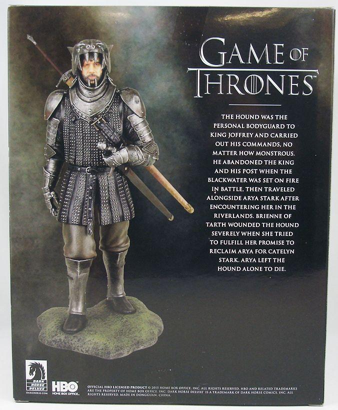 Game of Thrones - Statuette Dark Horse - The Hound Sandor ...