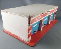 Garage Station Service en bois avec 3 Portes Ouvrantes Années 60 type Depreux Vroom Atomic Nil