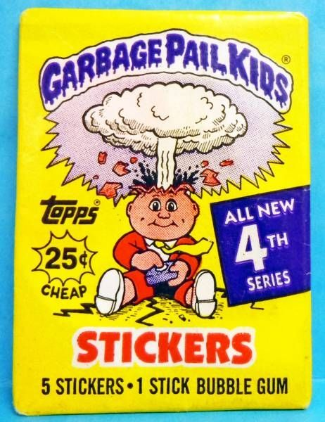 Garbage Pail Kids - Pochette de Cartes à Collectionner (Trading Cards Stickers) Topps 1986