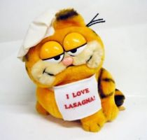 Garfield - Dakin & Co. Plush - Garfield \'\'I love lasagna!\'\'