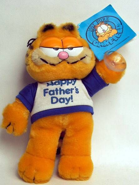 Garfield - Dakin & Co Plush w/suction - Father Day Garfield