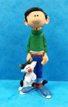 Gaston - Plastoy PVC Figure - Gaston and his cat