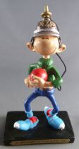Gaston - Plastoy Resin Figure - Bilboquet spiked helmet