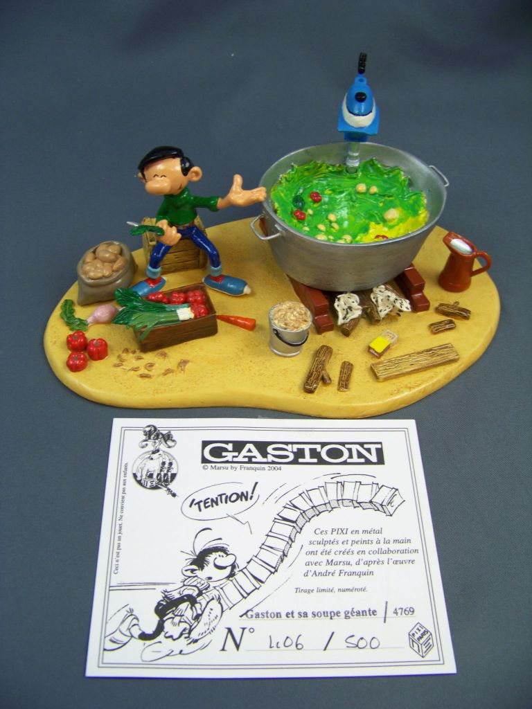 Gaston Lagaffe - Figurine de Pixi - Gaston et sa soupe géante (Ref.4769)