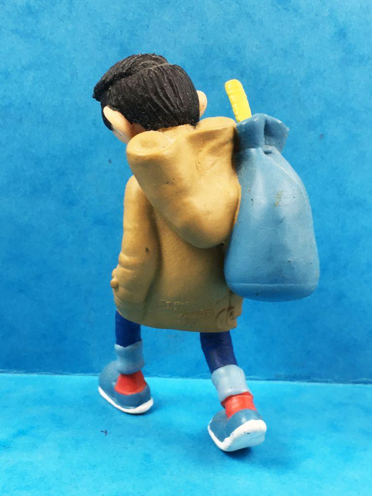 Gaston Lagaffe - Figurine PVC Plastoy - Gaston avec Caban marron et Baluchon