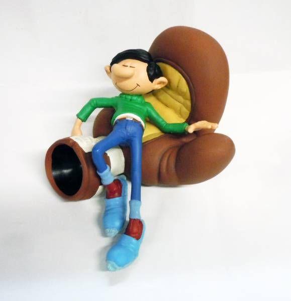 Gaston Lagaffe - Figurine Résine Plastoy - Gaston sur le gant de boxe (neuf en boite)