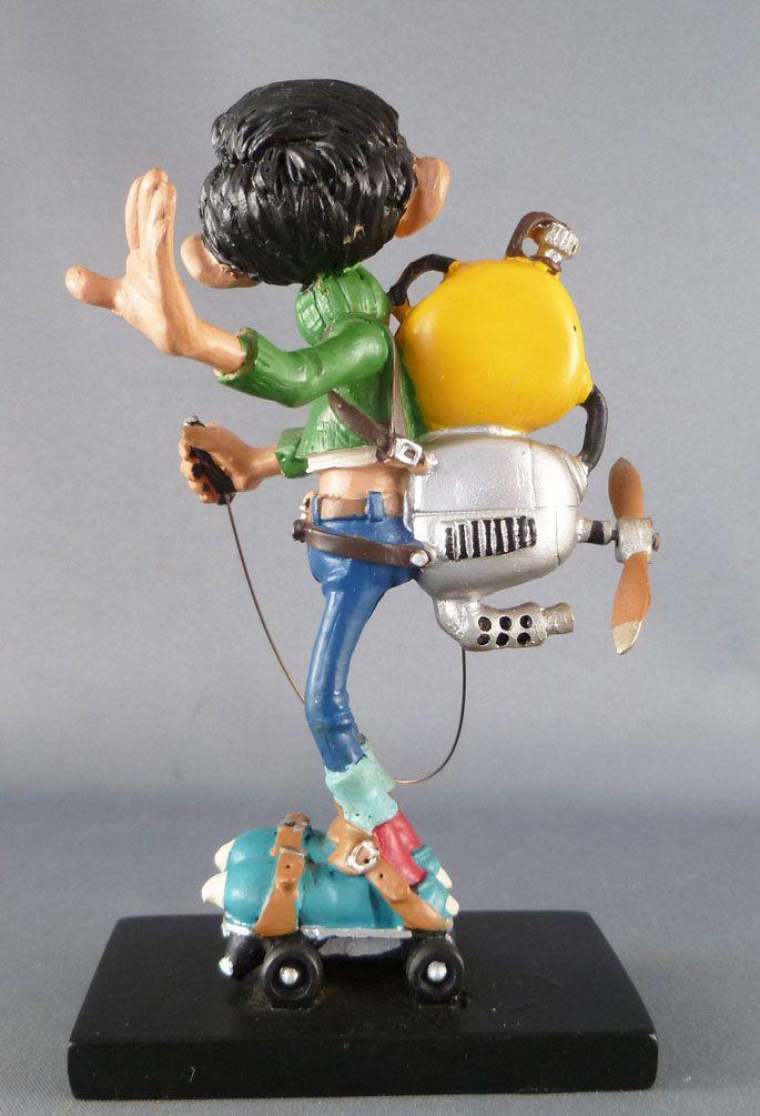 Gaston Lagaffe - Figurine Résine Plastoy - Hélice à moteur pour patineur