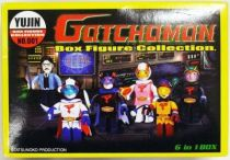 Gatchaman - Yujin - Set of 6 G-Force block figures
