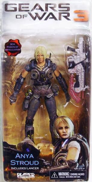 Gears of War 3 Série 1 - Anya Stroud - Figurine Player Select NECA