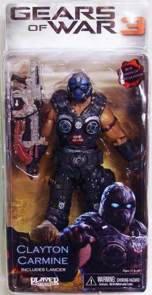 Gears of War NECA 3 Series 1 Action Figure Clayton Carmine Lancer NEW