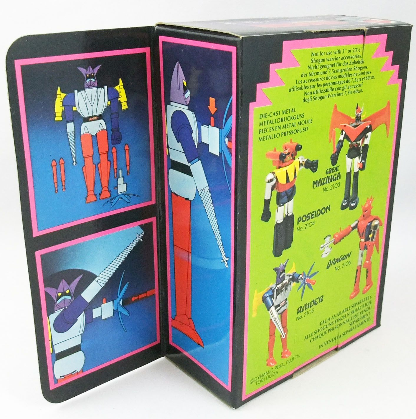 Getter Robo - Mattel Shogun Warriors - Raider 2nd edition (Mint in european box)
