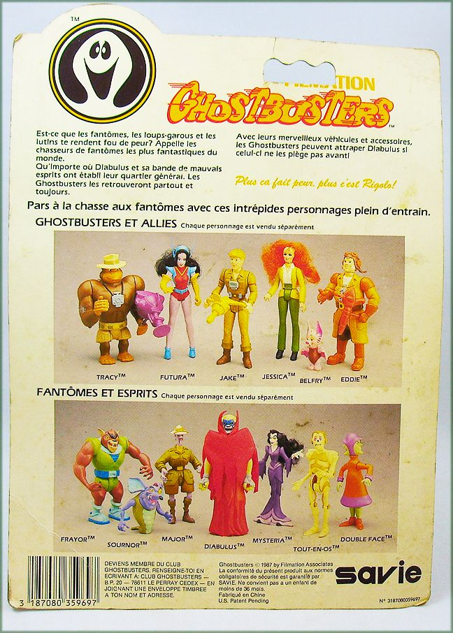 Ghostbusters Filmation - Action Figure - Scared Stiff (mint on Savie card)