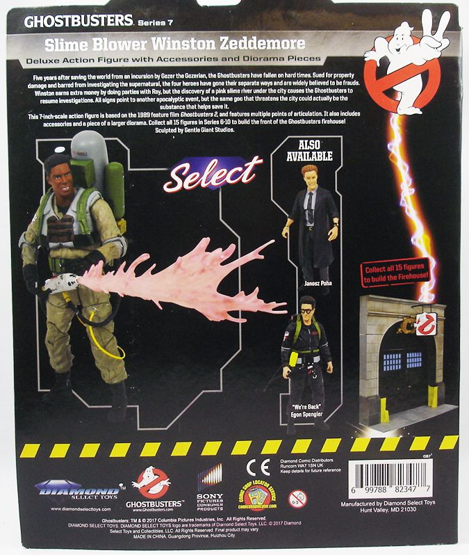 Ghostbusters II - Diamond Select - Slime-Blower Winston Zeddemore