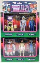 Ghosts\'n Goblins - Super7 ReAction Figure - Set 1&2 : Arthur, Unicorn, Skeleton, Astaroth Zombie, Underwear Arthur