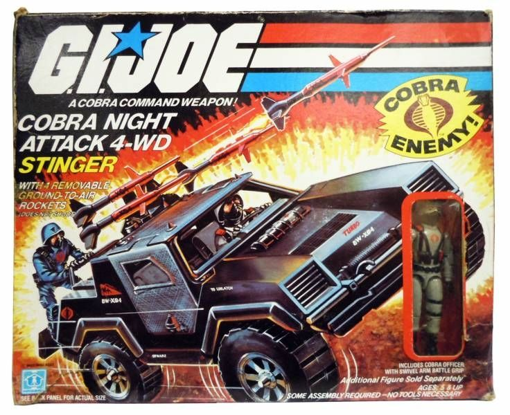 JOE série 3 Blueprints instructions Cobra Night Attack 4-WD Stinger G.I