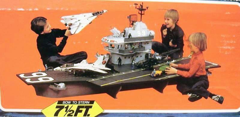 Les jouets de notre enfance. Gijoe---1985---porte-avions-aircraft-carrier-uss-flagg-p-image-354602-grande