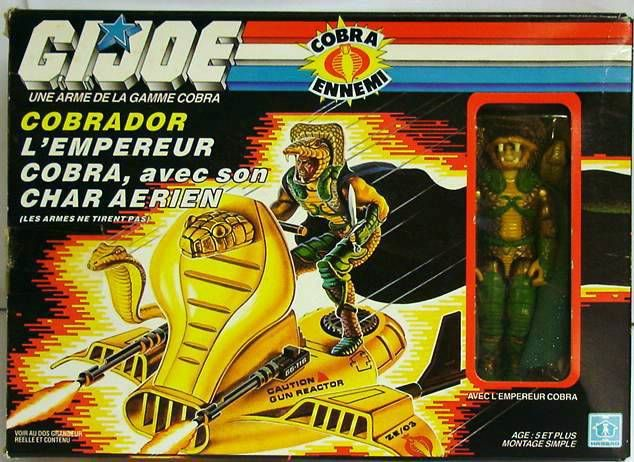 G.I.JOE - 1986 - Serpentor with Air Chariot