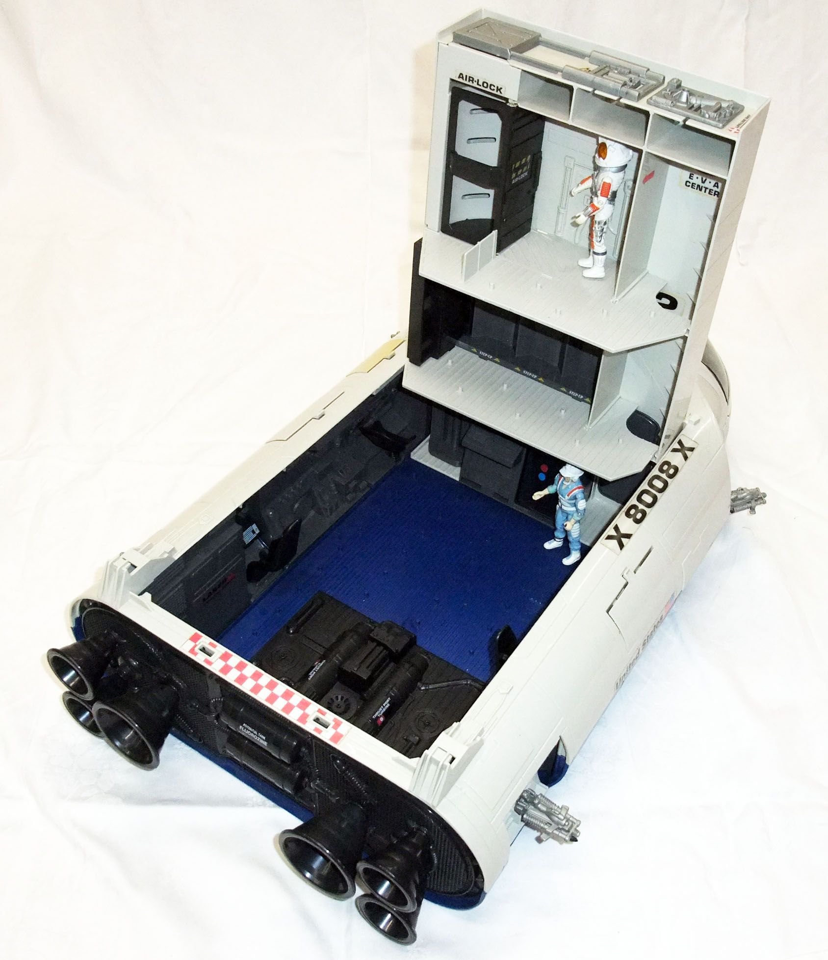 G.I.JOE - 1987 - Defiant Space Vehicle Launch Complex avec Payload & Hardtop (loose)