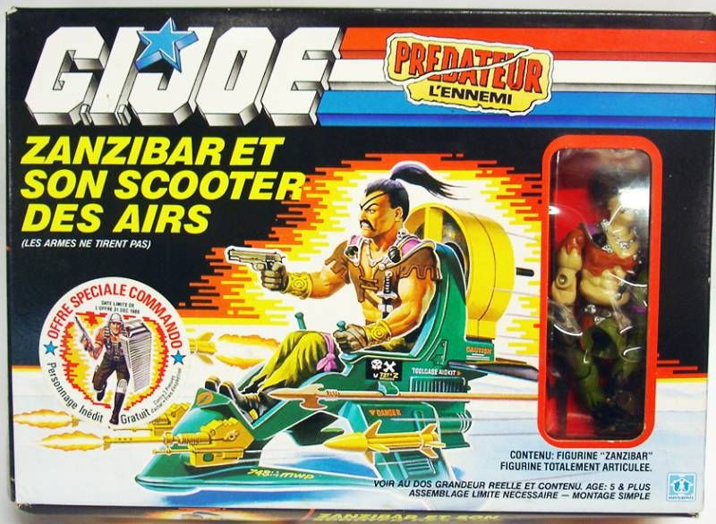 G.I.JOE - 1987 - Zanzibar with Air Skiff