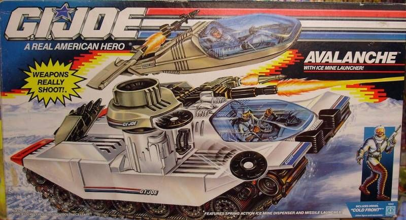 G.I.JOE - 1990 - Avalanche Snow Tank