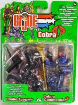 G.I.JOE - 2002 - Snake Eyes & Cobra Commander