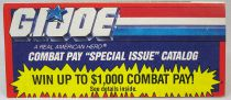 "G.I.Joe - Catalogue dépliant Hasbro USA 1991 ""Combat Pay\"""