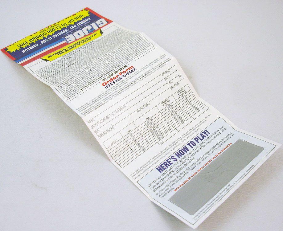 """G.I.Joe - Catalogue dépliant Hasbro USA 1991 \""""Combat Pay\"""""""