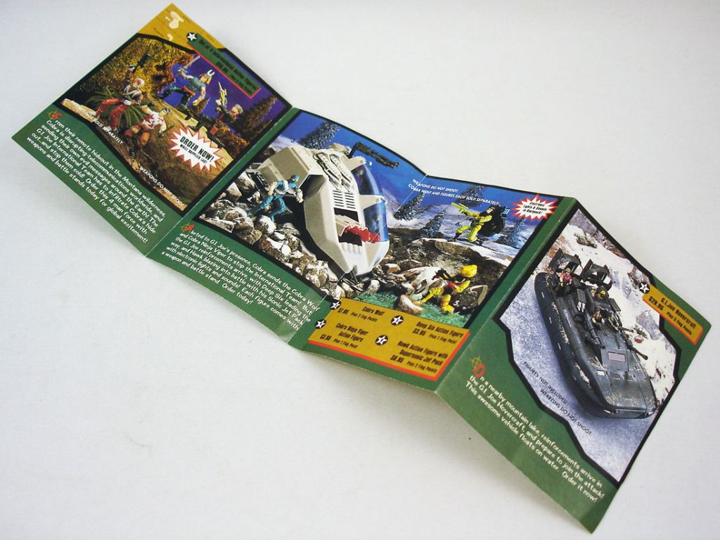 "G.I.Joe - Catalogue dépliant Hasbro USA 1993 ""Menace in the Wilderness\"""