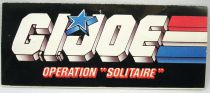 """G.I.Joe - Hasbro France 1989 catalog insert \""""Operation Solitaire\"""""""