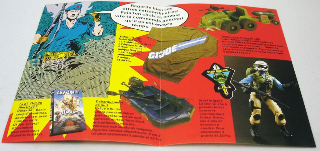 "G.I.Joe - Hasbro France 1989 catalog insert ""Promotional Offers Steel Brigade\"""