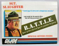 "G.I.Joe - Hasbro USA 1986 catalog insert \""B.A.T.T.L.E.\"""