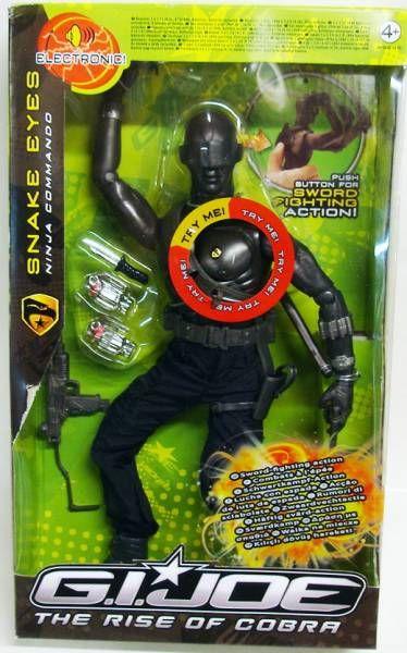 G I JOE 2009 - 12'' Electronic Snake Eyes (Ninja Commando)