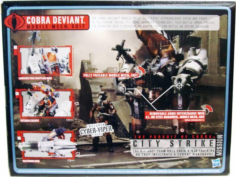 G.I.JOE 2010 - Cobra Deviant Mobile Mech Suit with Cyber Viper