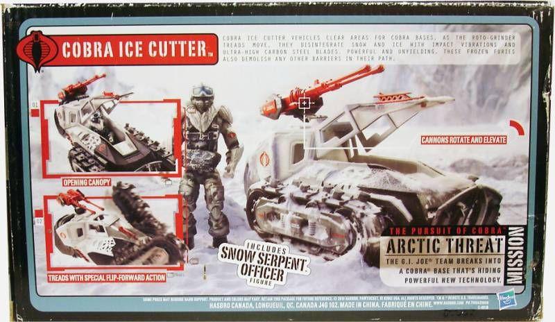 G.I.JOE 2010 - Cobra Ice Cutter avec Snow Serpent Officer (loose avec boite)